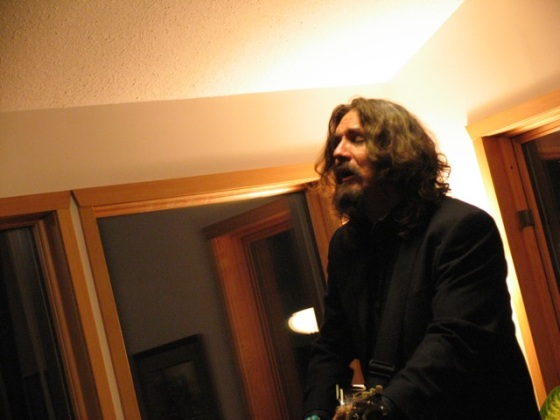 Tom Wilson performs at Home Routes House Concert in Onanole