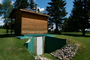 Clivus Compost toilet at Clear Lake Golf Course