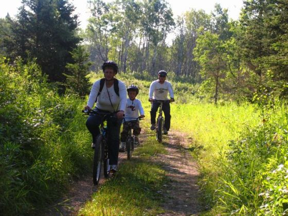 Family bicycle adventure_Riding Mountain National Park