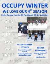 Occupy Winter Evening Program poster