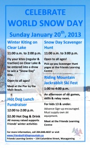 World Snow Day at Wasagaming